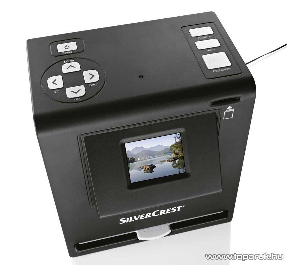 SilverCrest SMS 5.0 multifunkciós filmszkenner (fényképek, negatívok és diák digitalizálásához)