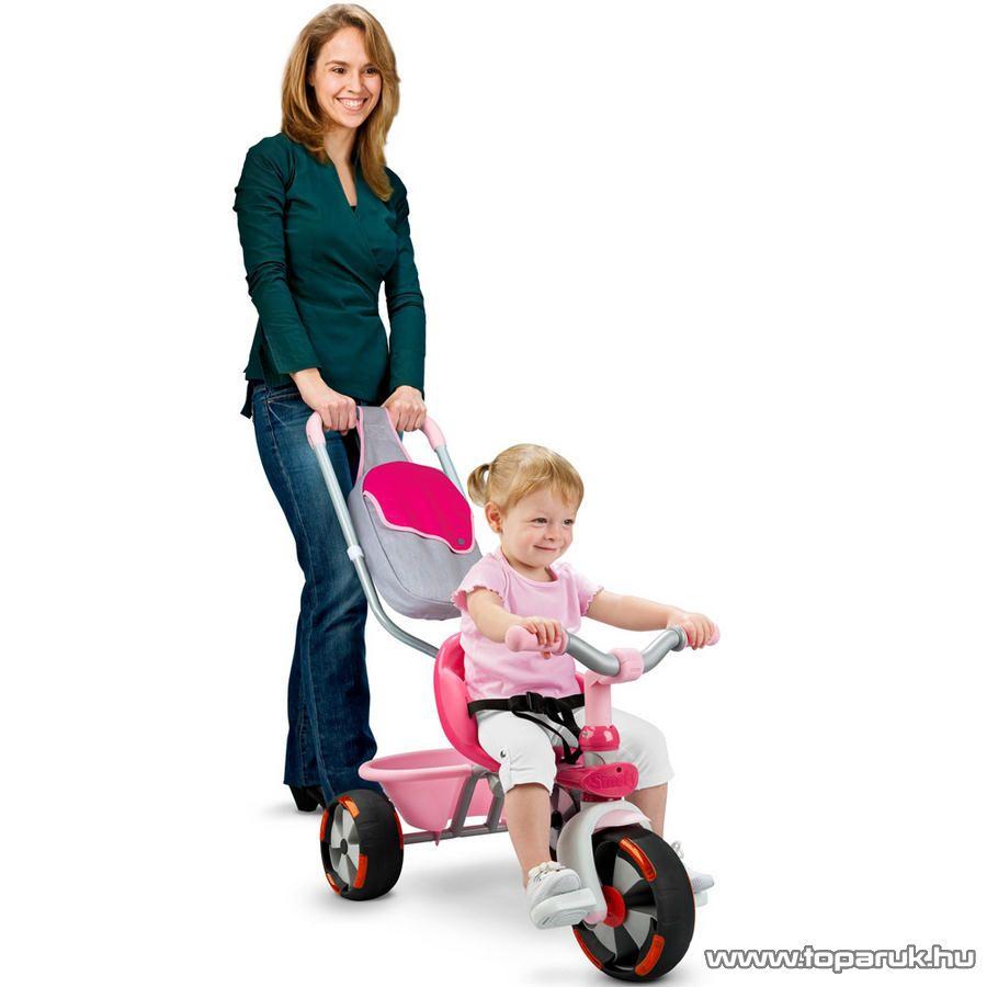 Smoby Baby Driver confort szülőkormányos tricikli - lány (7600434116) - Megszűnt termék: 2014. November