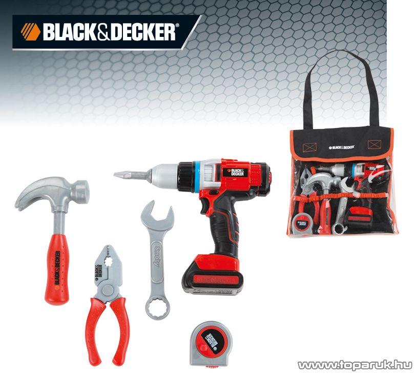 Smoby Black & Decker (B&D) Szerelőtáska, szerelő készlet (7600500281)