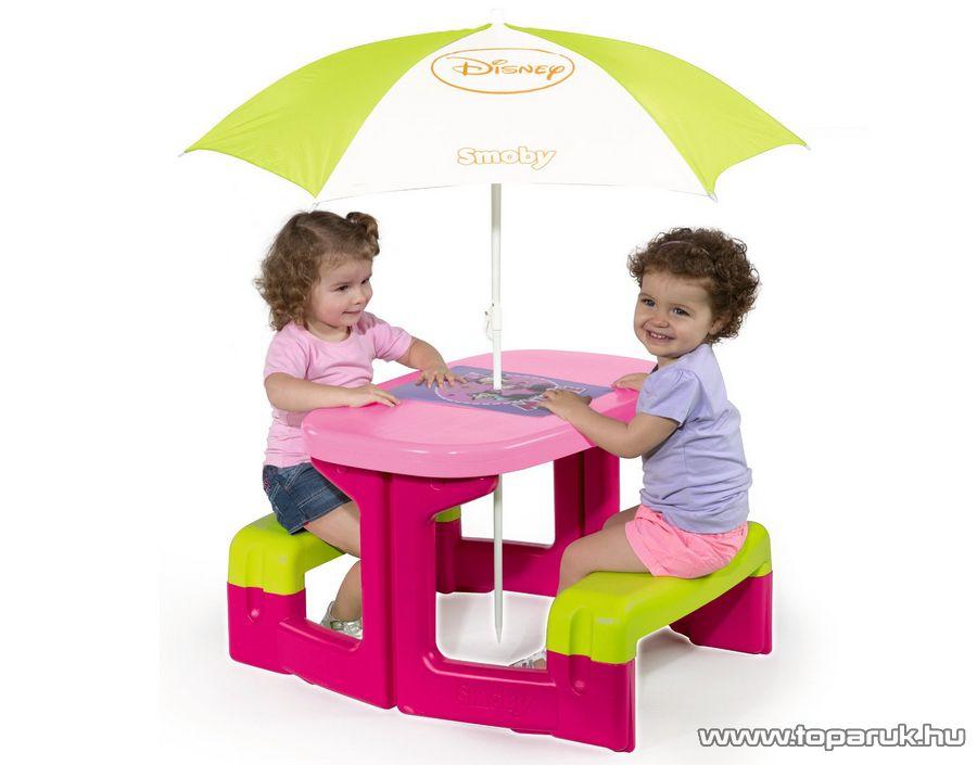 Smoby Minnie Egér piknik asztal napernyővel (7600310274) - készlethiány