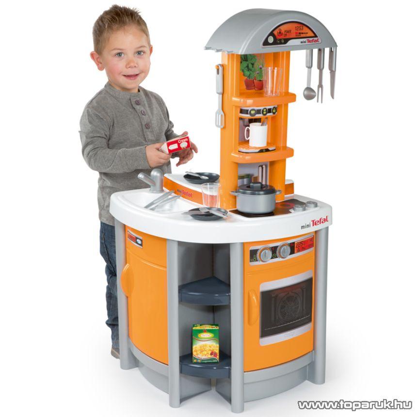 Smoby Tefal Stúdió játék konyha - narancs (7600024199) - Megszűnt termék: 2015. November