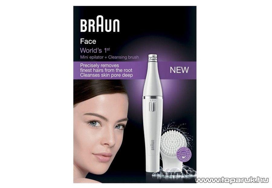 Braun Face 810 Arcepilátor és arctisztító készülék