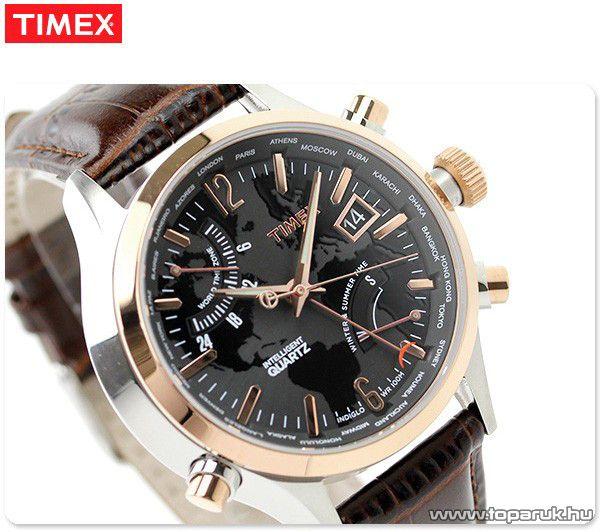 Timex T2N942 Intelligent Quartz Traveller Series férfi karóra világidővel, ajándék kuponnal