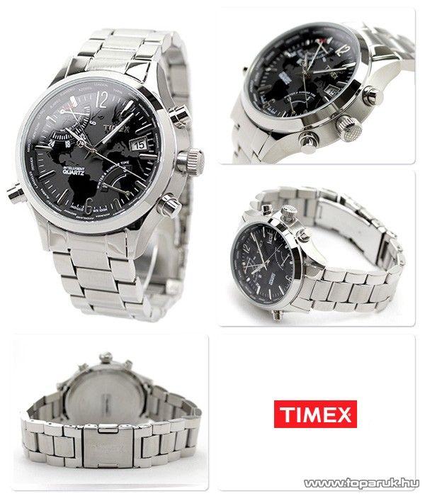 Timex T2N944 Intelligent Quartz Traveller Series férfi karóra világidővel, ajándék kuponnal