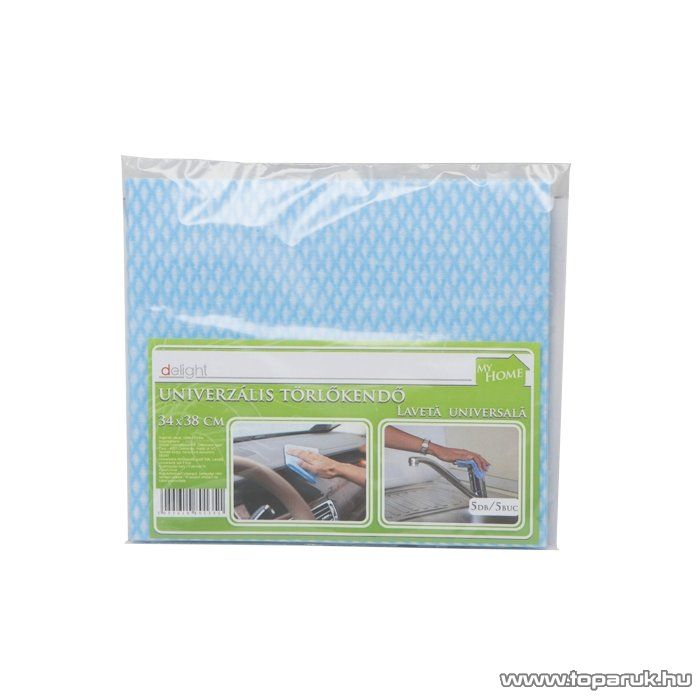 Törlőkendő készlet, 34 x 38 mm, 5 db / csomag (56040) - megszűnt termék: 2014. november