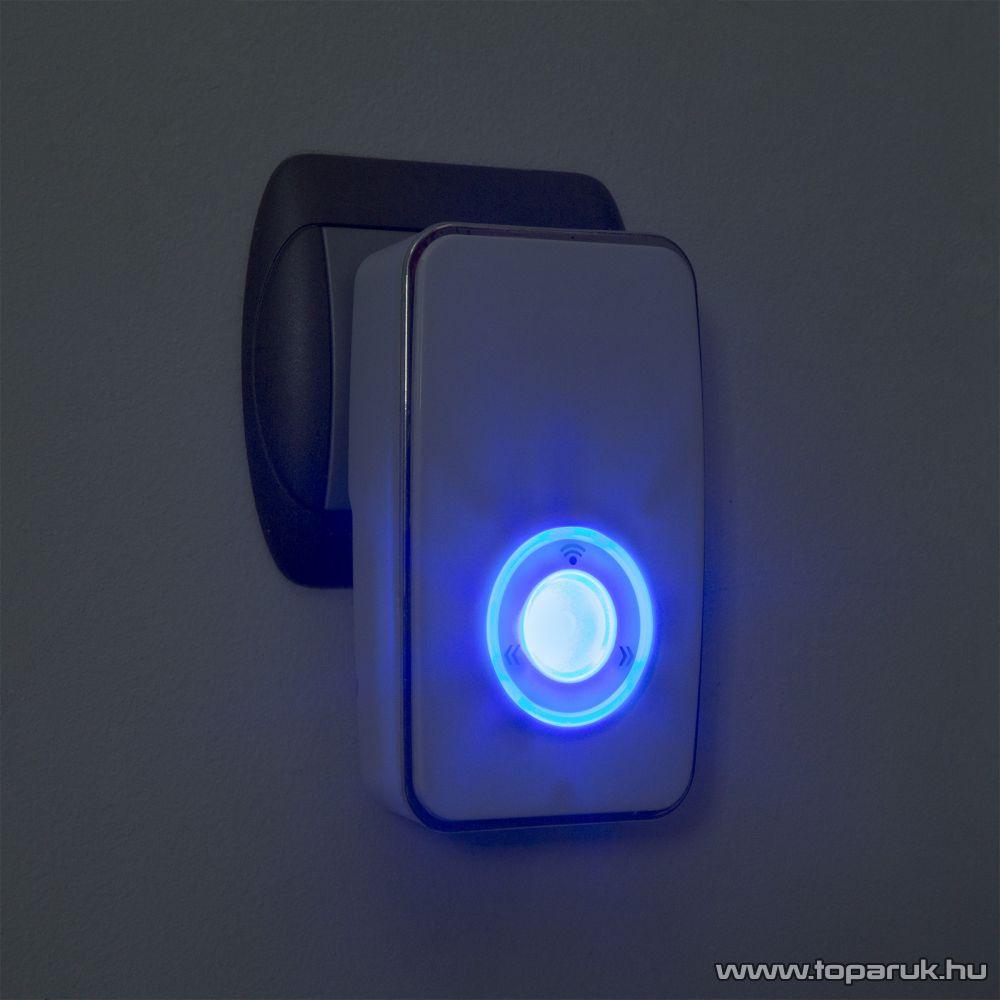 delight 55337 Hálózati vezeték nélküli csengő, éjszakai fénnyel, 36 dallam (hatótávolság: 100m)