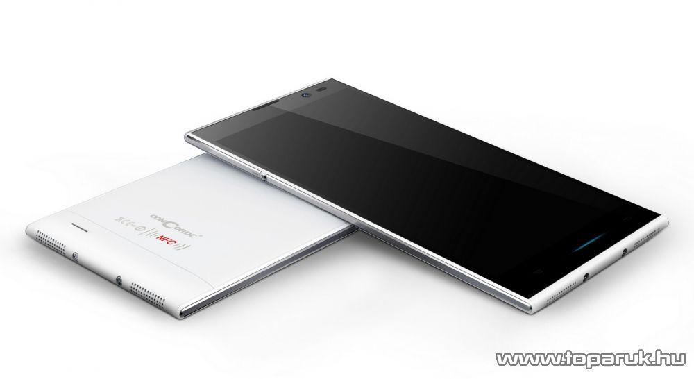 ConCorde SmartPhone 5005 NFC (Dual SIM) 16GB kártyafüggetlen okostelefon, Android operációs rendszerrel, fehér - megszűnt termék: 2016. március