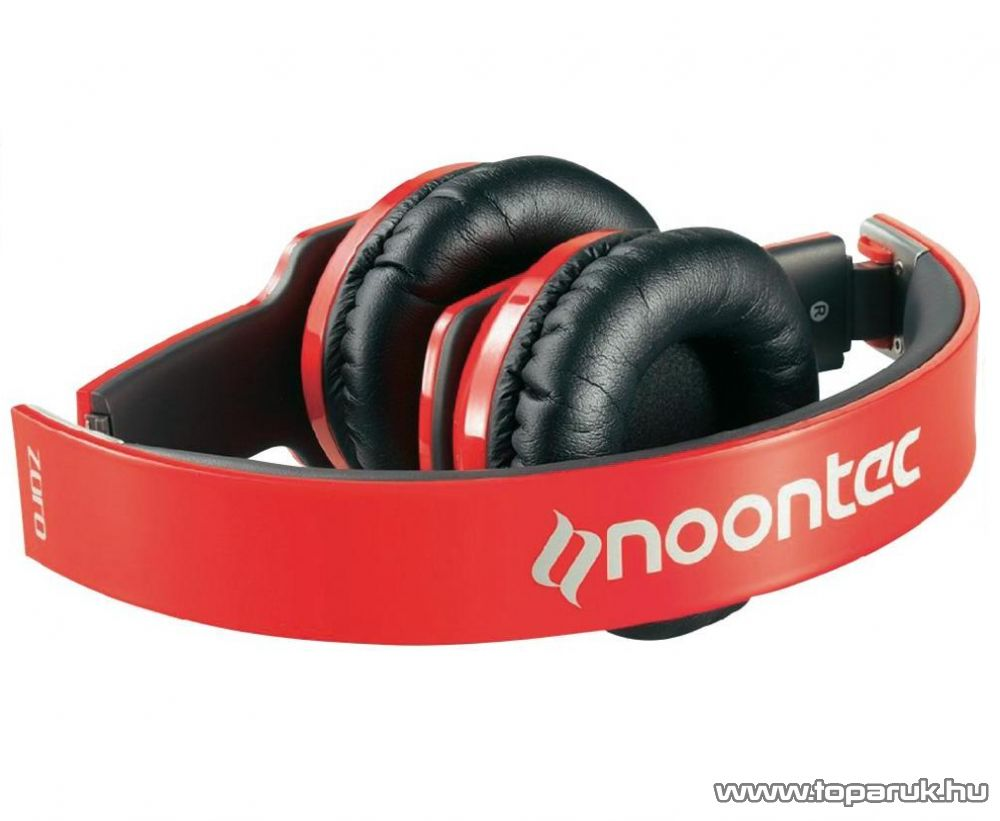 Noontec Zoro összehajtható fejhallgató, piros