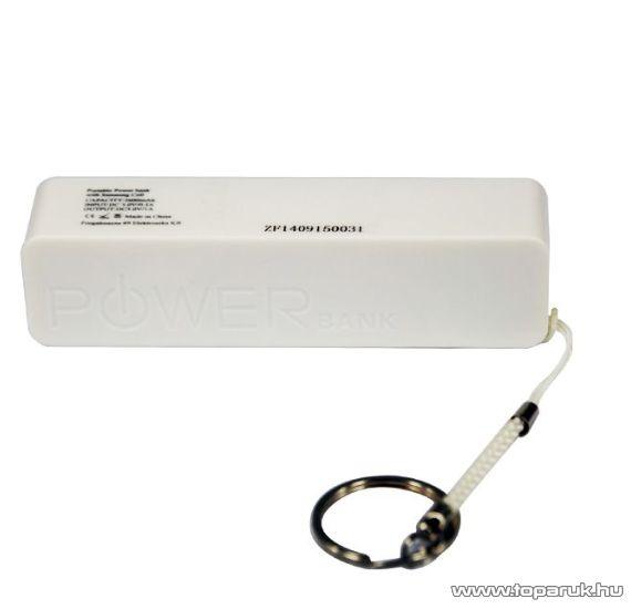 ConCorde Power Bank univerzális külső akkumulátor, fehér, 2600 mAh - megszűnt termék: 2015. június