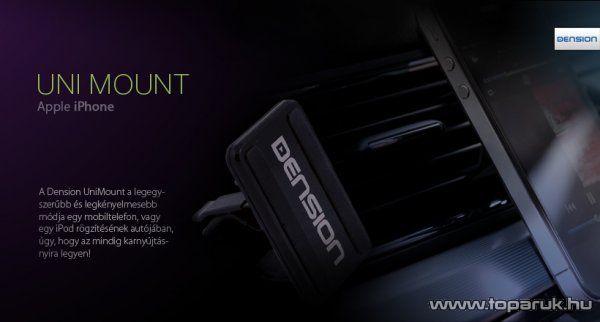 Dension UniMount univerzális autós telefontartó, nanotechnológia, 57 x 35 x 6 mm