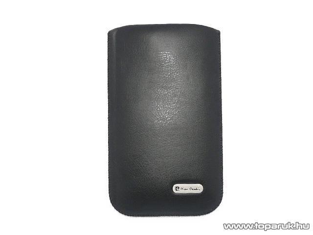 Pierre Cardin H10-5 Slim black univerzális álló mobiltelefon bőrtok, fekete