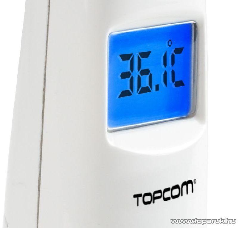 Topcom TH-4655 fülhőmérő, homlok hőmérő és étel hőmérő, infravörös technológiával