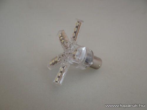15 SMD Star LED-es, 360 fokban világító helyzetjelző led, 21W-os izzó helyére, ba15s foglalatba, 1156 (LD33-1156)