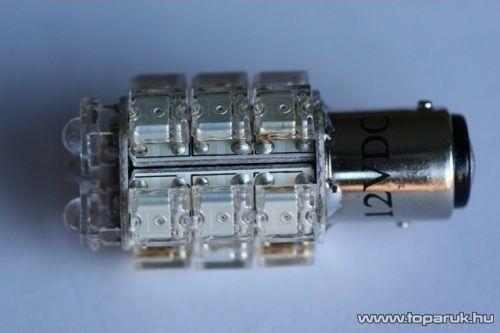 18 Piranha LED-es, 360 fokban világító, stabilizált helyzetjelző led, 21W vagy 21/5W helyére, 12 V (LD32-1156)