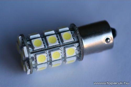 27 SMD HighPower LED-es, 360 fokban világitó helyzetjelző LED ba15s foglalathoz, 21W-os izzó helyére (LD31-1156)