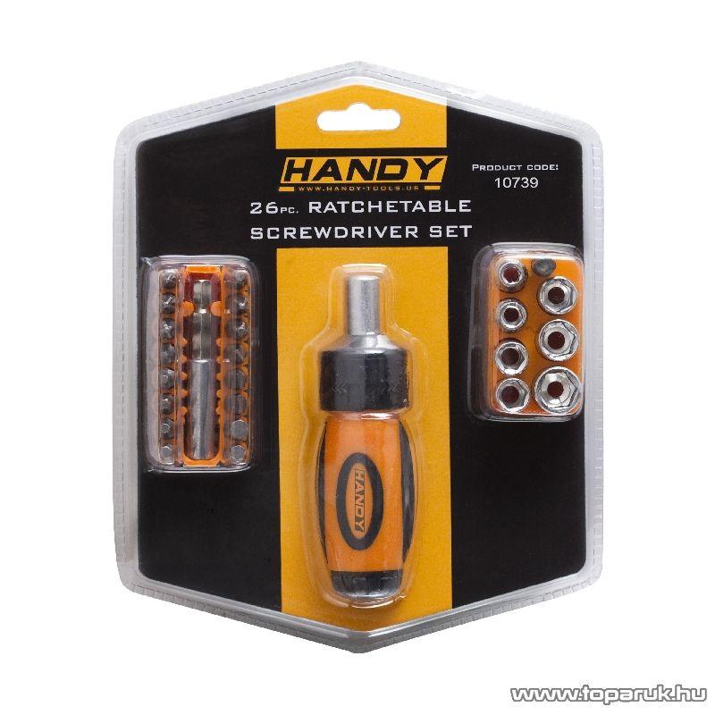 Handy 26 db-os racsnis csavarhúzó készlet (10739) - készlethiány