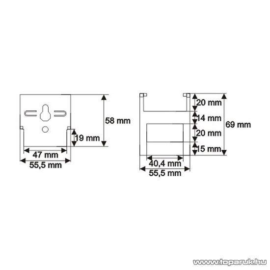 Asztali tartó, 108x55mm (12084)