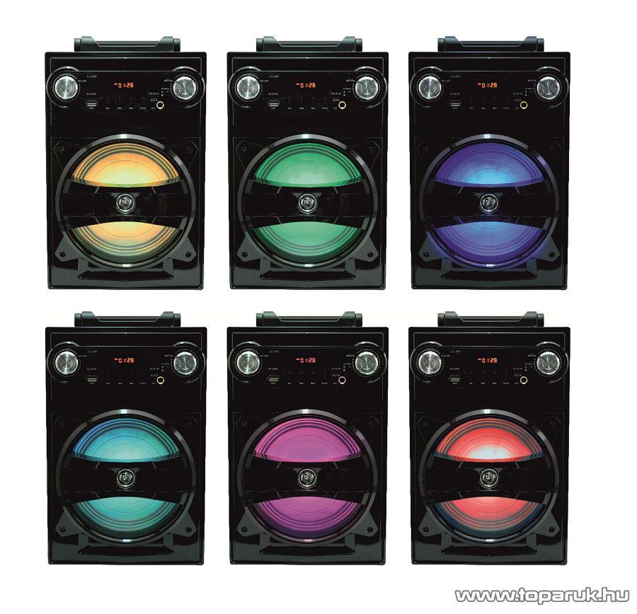 SAL BT 1650 Hordozható multimédia hangszóró, karaoke mikrofon bemenettel, 5 in 1