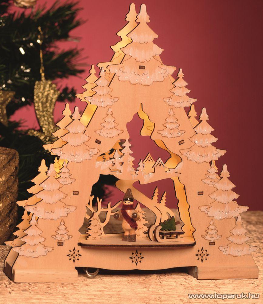 HOME KAD 24 LED-es elemes asztali dísz, karácsonyfa dekoráció, 25,5 cm