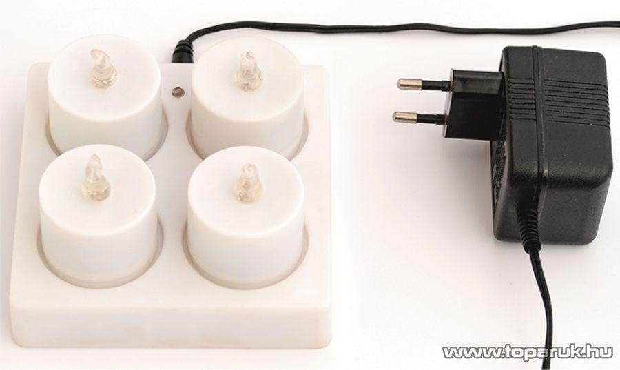 HOME CDC 4 Beltéri akkumulátoros tölthető mécses szett, 4 db-os - készlethiány