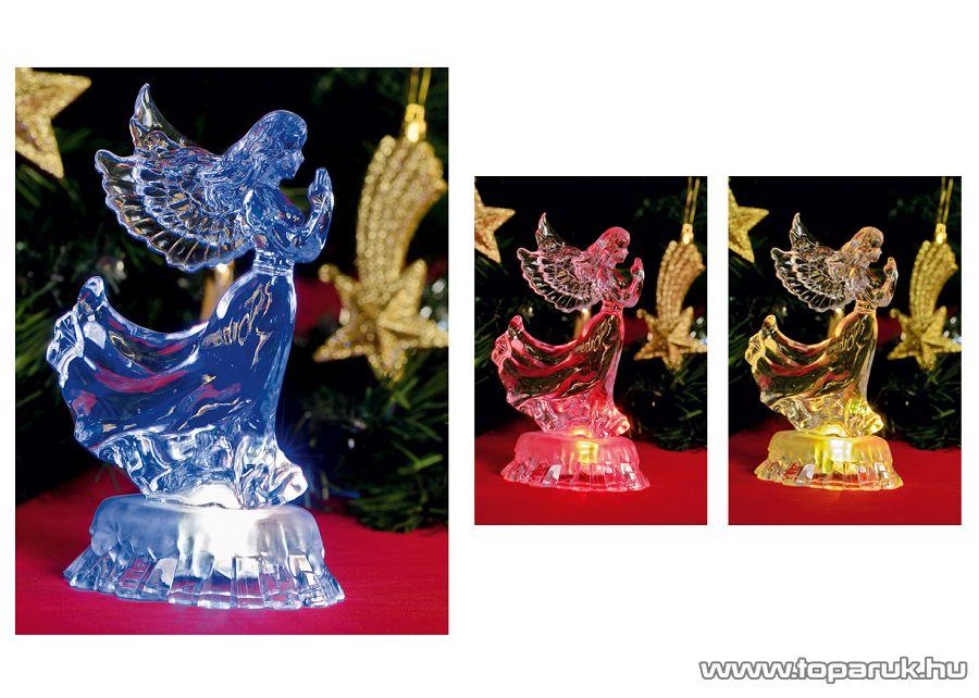 HOME CDM 15/A Beltéri 1 db színváltó LED-es dekoráció (akril alapanyagú), angyal