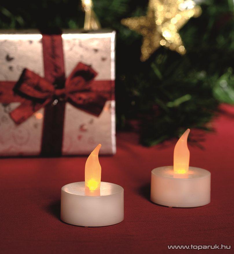 HOME CD 6/WH Beltéri elemes LED teamécses szett (6 db), pislákoló fényjáték, fehér színű mécsesek