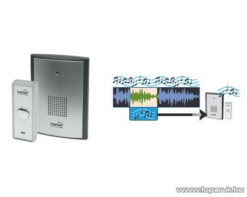 HOME DB 308 MP3-as vezeték nélküli csengő (csengőhang bővítési lehetőséggel), 100 m hatótávolság - megszűnt termék: 2015. május