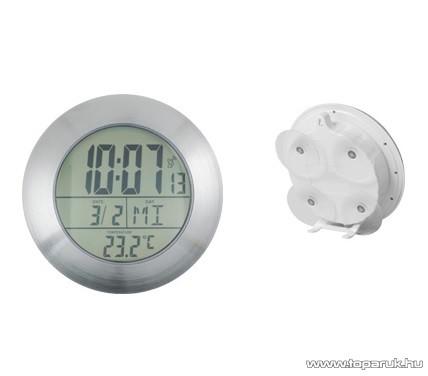 HOME DCF 17B Fürdőszobai óra, belső hőmérséklet kijelzéssel