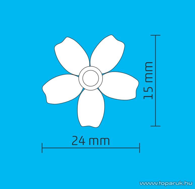 HOME DECO 7 Dekorációs szett izzósorhoz, virág, 5 mm-es LED-re, 50 db / csomag