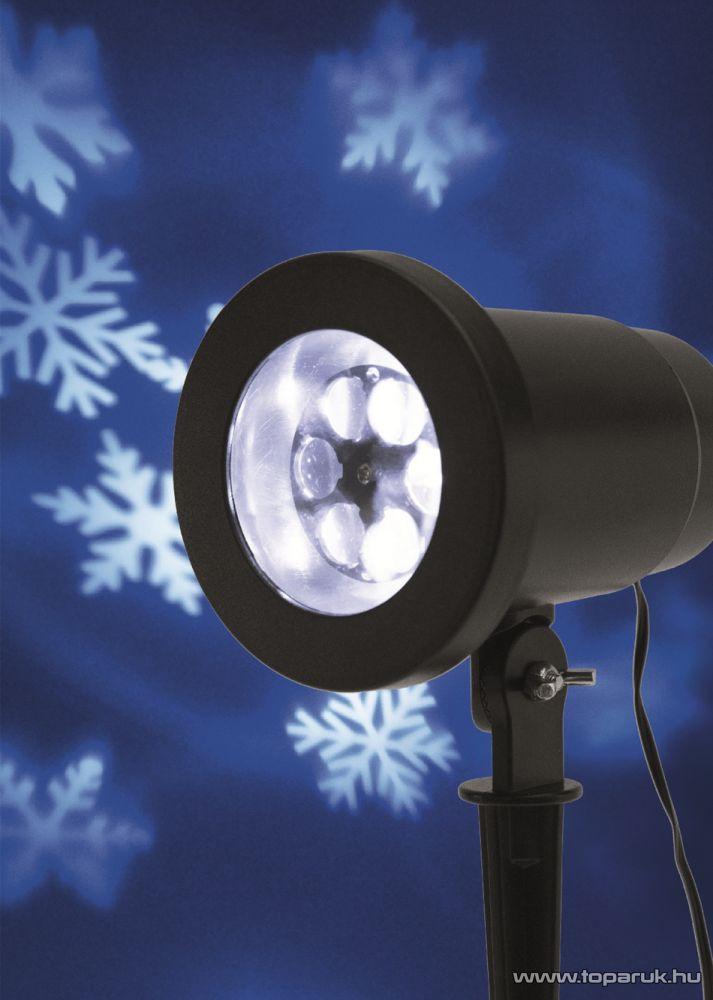 HOME DL IP 1 Kültéri LED projektor, mozgó fehér hópihe fényeffekt kivetítő