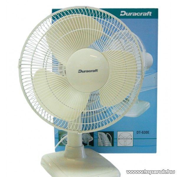 Duracraft DT 630E Asztali ventilátor, 30 cm, világosszürke - készlethiány