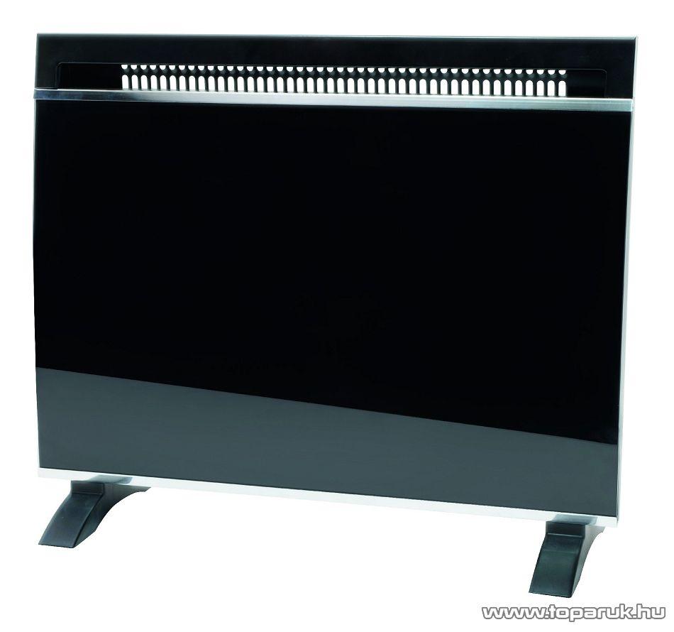 HOME FK 35/BK Elektromos fűtőtest, konvektor, edzett üveg előlappal, 1500 W