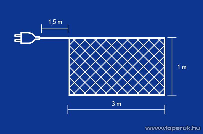HOME G 4001/CL Hagyományos izzós háló, 160 db fehér izzóval - készlethiány