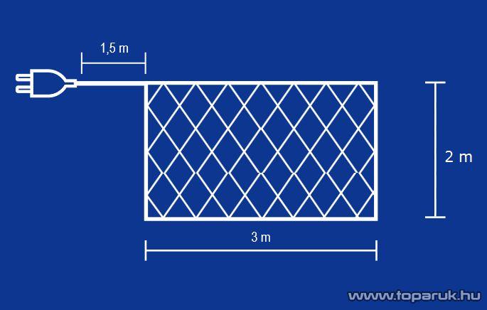 HOME G 4003/CL-2 Hagyományos izzós háló, 160 db fehér izzóval - készlethiány