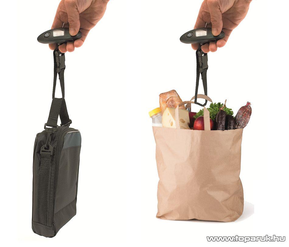 HOME HG PM 09 csomag mérleg, kézi poggyászmérleg (max. 44kg súlyig)