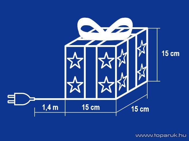 HOME KBX 15/BL Világító doboz, kék-ezüst, 15 cm