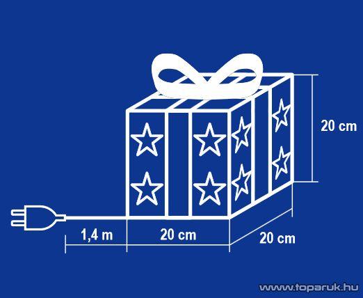 HOME KBX 20/R Rattan világító doboz fehér szalaggal, 20 cm - megszűnt termék: 2016. október