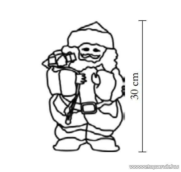 HOME KDS 30 Beltéri sétáló, zenélő Mikulás, 30 cm