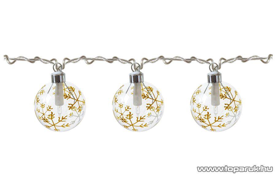 HOME KIB 10/CL Üveggömbös fényfüzér, arany - megszűnt termék: 2014. október