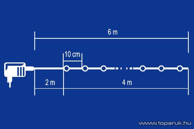 HOME KIB 40/M Beltéri LED-es gömb fényfüzér, 2,2 cm-es rugalmas, tömör golyókkal