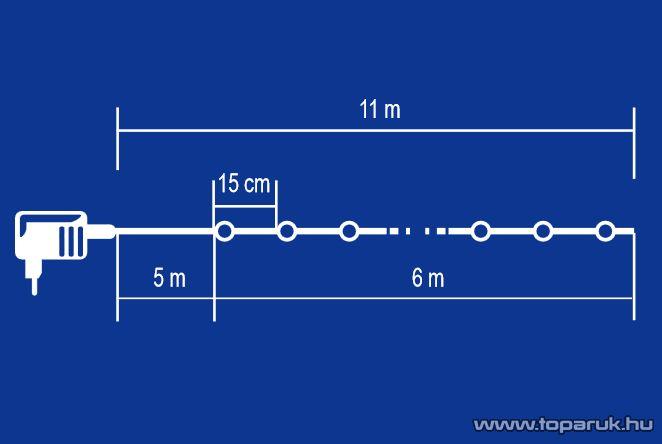 HOME KIB 48/M Beltéri LED-es fényfüzér, 3 cm-es, fehér EVA anyagú gömbökkel, 8 programos, memóriás