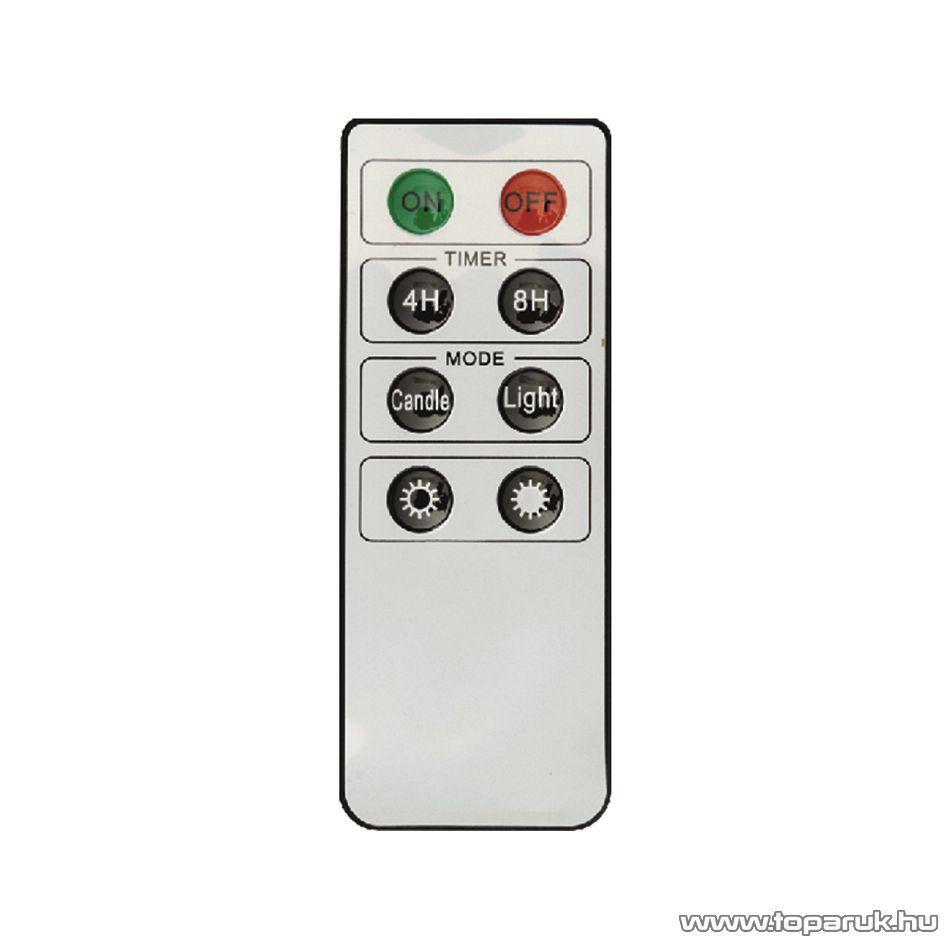 HOME KIC 10/R Beltéri vezeték nélküli LED-es gyertya szett távirányítóval, 10 db gyertyával, melegfehér fénnyel (csíptetős kivitel)