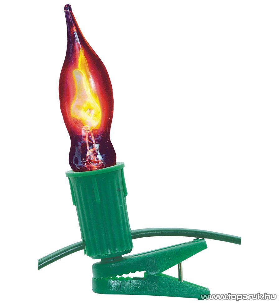 HOME KIC 20 Gyertyalángos fényfüzér, 20 db piros izzóval - megszűnt termék: 2014. november