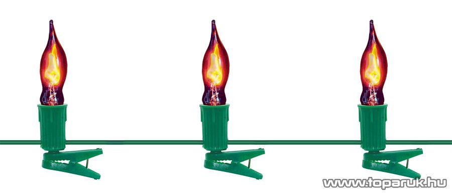 HOME KIC 40 Gyertyalángos fényfüzér, 40 db piros izzóval - megszűnt termék: 2014. november