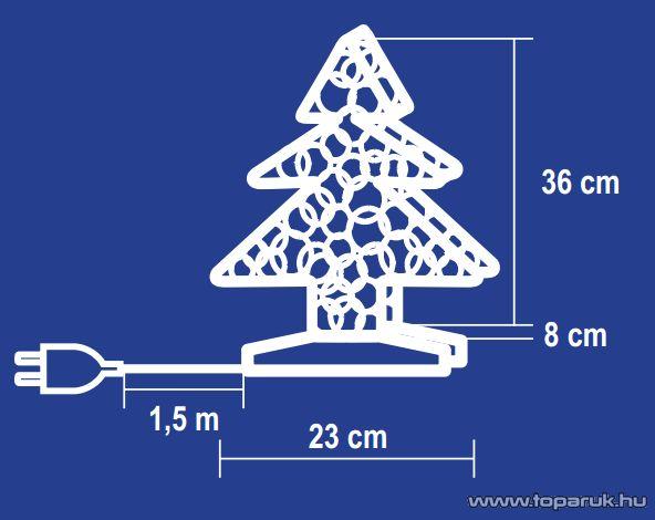 HOME KID 102/R Rattan világító karácsonyfa - készlethiány