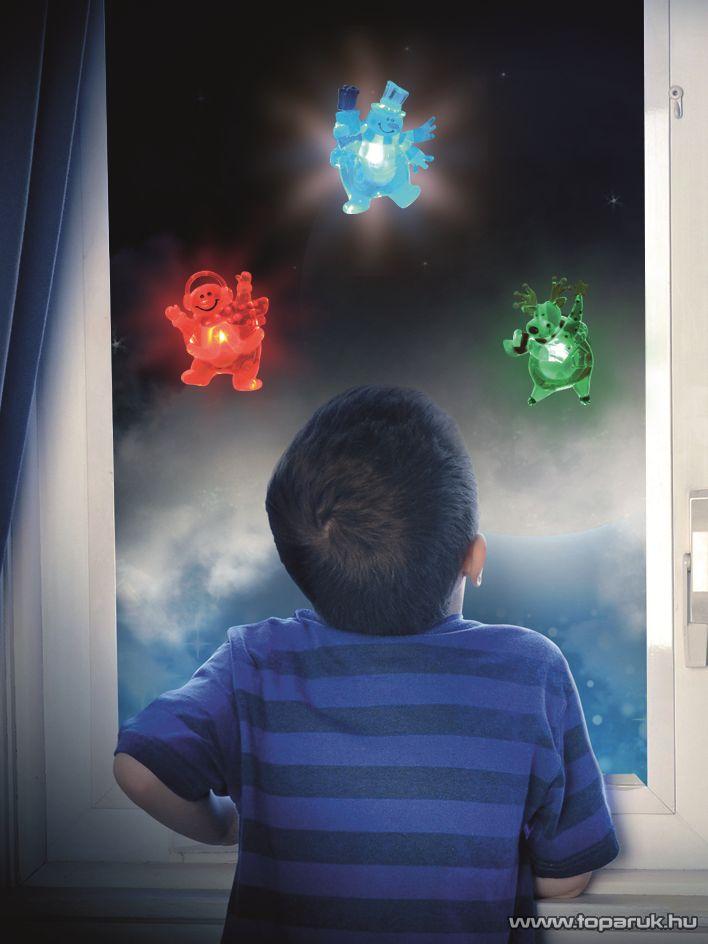 HOME KID 321 Beltéri LED-es ablakdísz, rénszarvas dekoráció