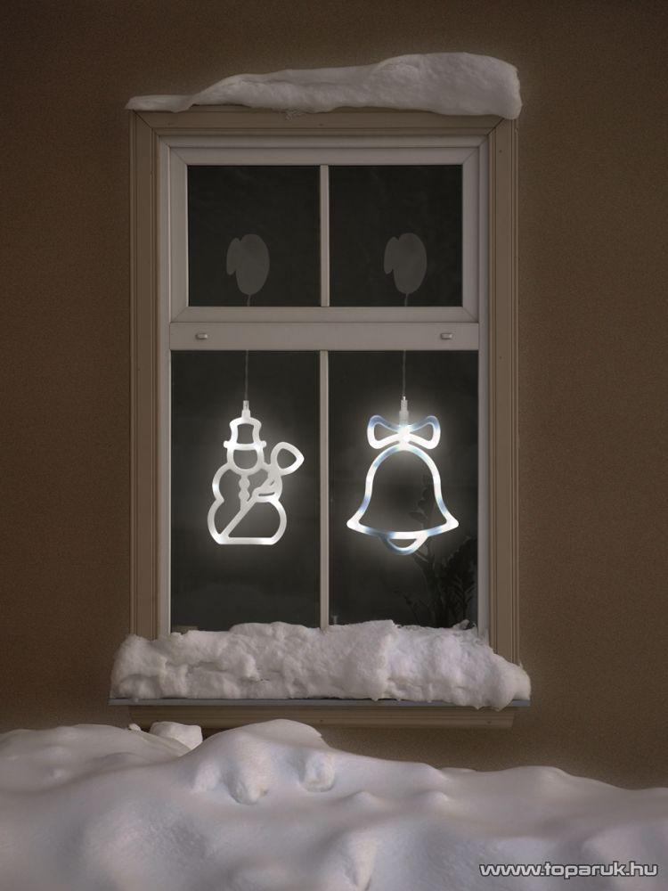 HOME KID 405 LED-es ablakdísz, harang - készlethiány