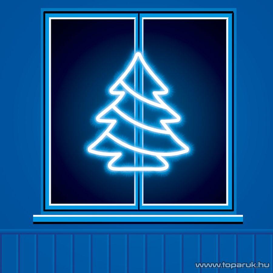 HOME KID 502/M Fenyőfa ablakdísz, 35 db színes hagyományos izzóval