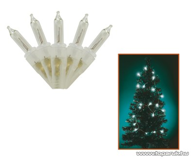 HOME KIF 100T Hagyományos izzós fényfüzér, 100 db fehér izzóval - készlethiány