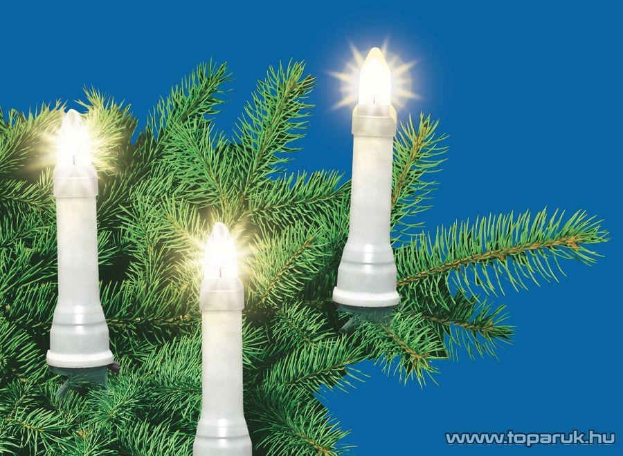 HOME KIK 50 Kültéri gyertyaizzós fényfüzér, 50 izzó, fehér - megszűnt termék: 2014. november